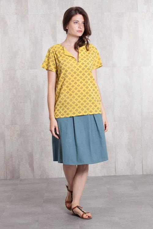 Blouse Jacquard coton 635-12