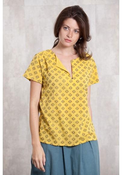 Blouse Coton dobby 635-12-yellow