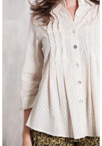 Blouse Coton dobby 635-15-Natural