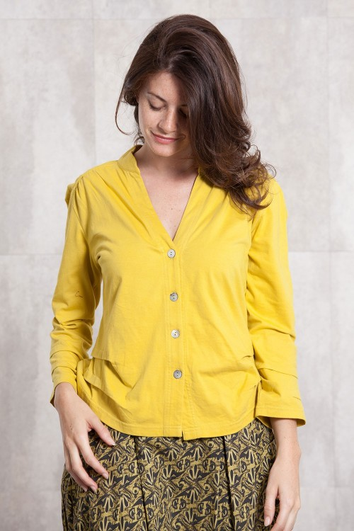 Jacket coton jersey 635-91-yellow