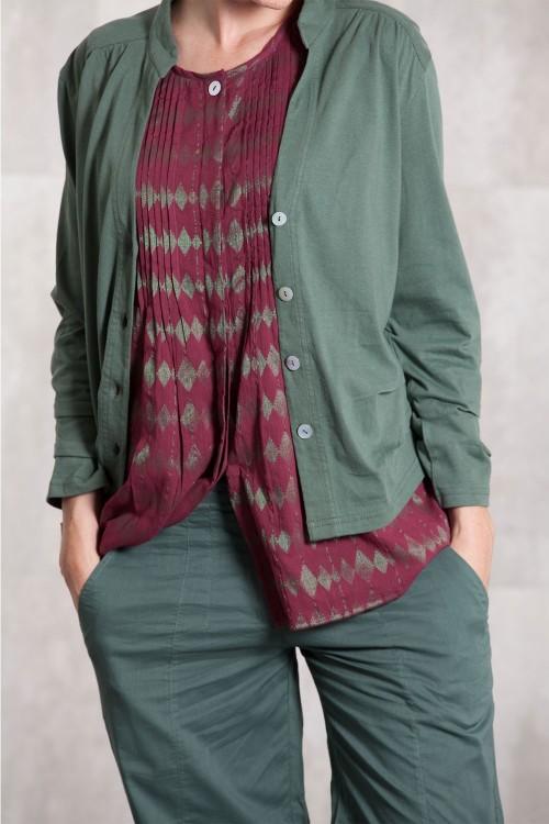 Gilet uni en jersey de coton 635-91