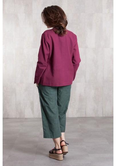 Jacket coton 635-61-Framboise