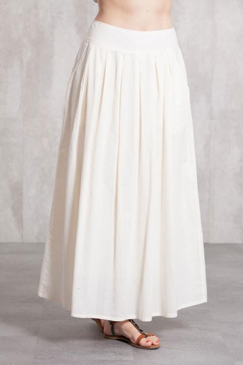 Long skirt coton voil -635-34-natural