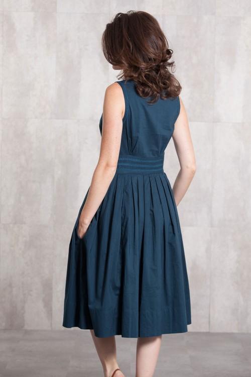 Dress Coton voil lined 635-71-Ardoise