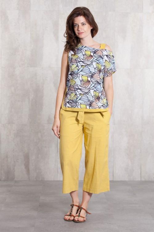 Pantalon slub coton 635-43