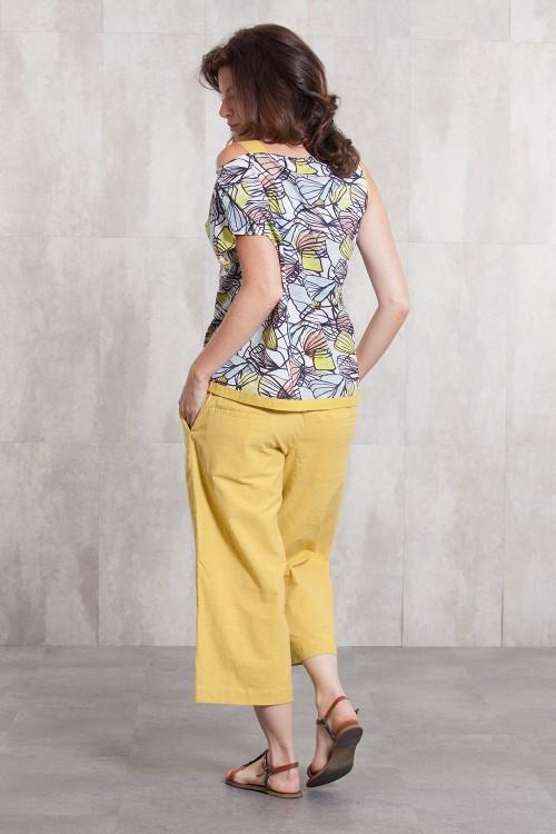 Pant coton slub 635-43- yellow