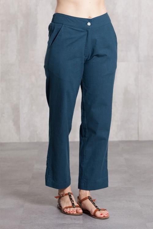 Pantalon slub coton 635-47