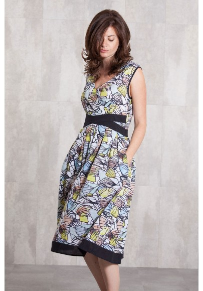 Dress coton voil digital print-630-76