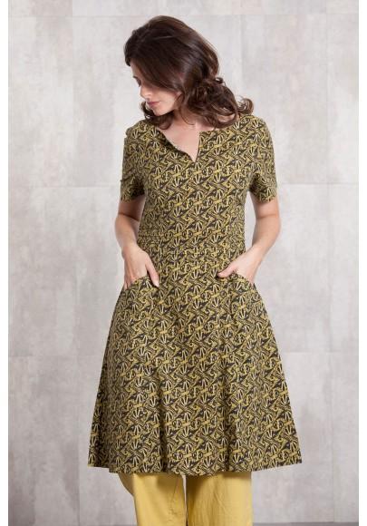 Dress coton poplin digital print-630-75
