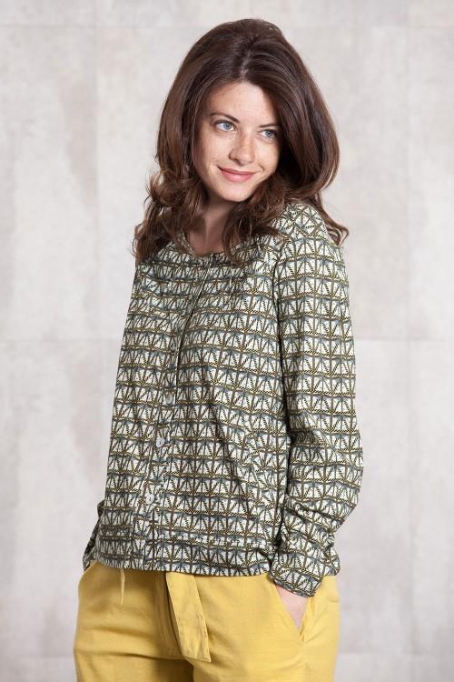 Veste jersey  de coton imprimée digitale-630-92