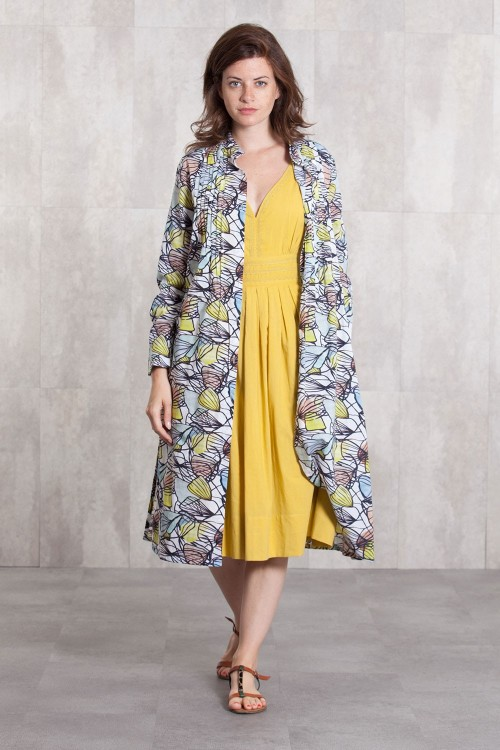 Dress Coat coton voil digital print -630-62