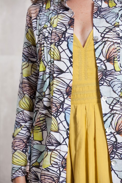 Dress Coat coton voil digital print -630-62