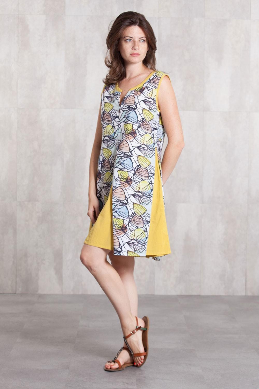 Dress  tunik coton voil digital print-630-812