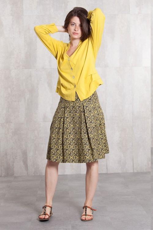 Skirt coton  poplin digital print -630-35