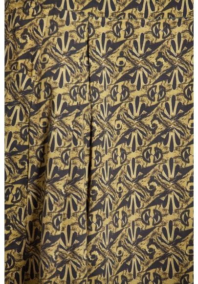 Jupe popline de coton imprimée digitale-630-35