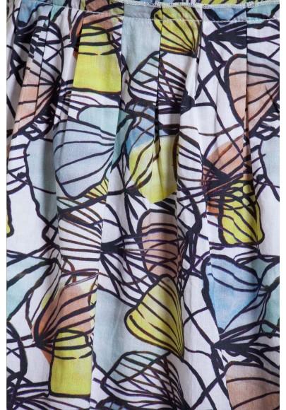 Skirt coton voil digital print -630-32