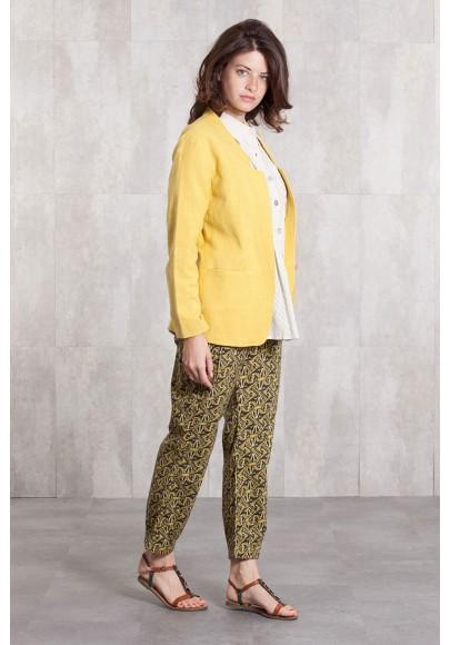 Pantalon popline de coton imprimée digitale-630-42