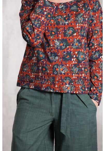 Jacket coton jersey digital print-631-92