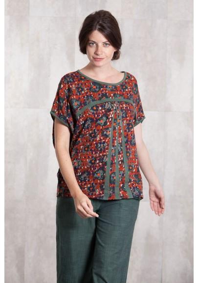 Pull T shirt jersey de coton imprimée digitale-631-21