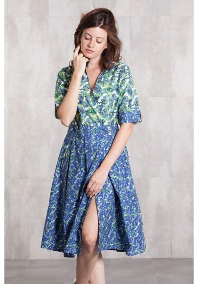 Dress coton poplin digital print -632-78
