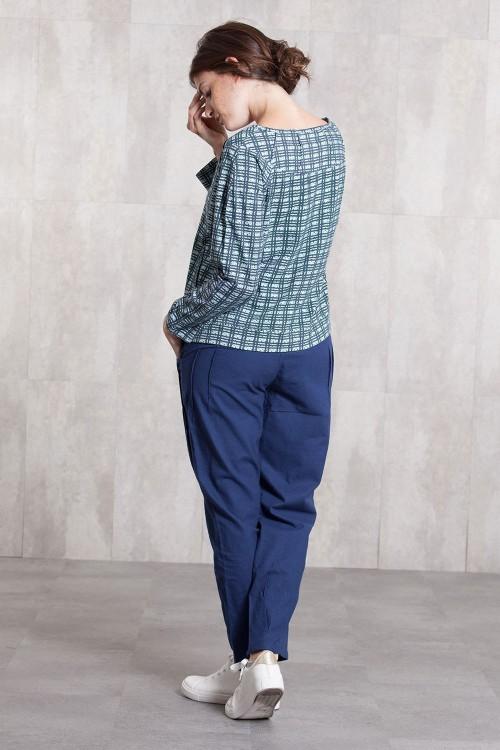 Veste jersey  de coton imprimée digitale-632-92