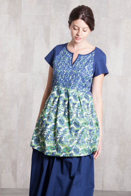 Tunik Dress coton poplin digital print -632-810