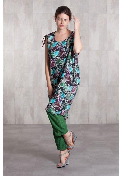 Dress viscose  digital print-633-710A