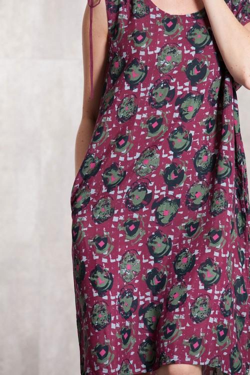 Robe viscose  imprimée digitale-633-710