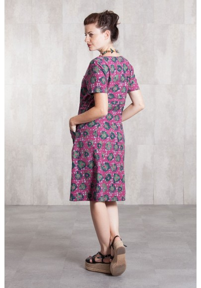 Dress coton Slub digital print-633-75