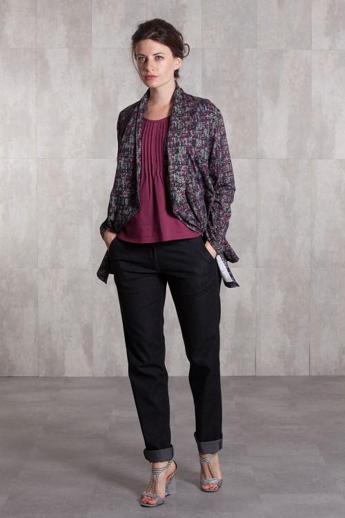 Jacket  coton jersey digital print-633-93