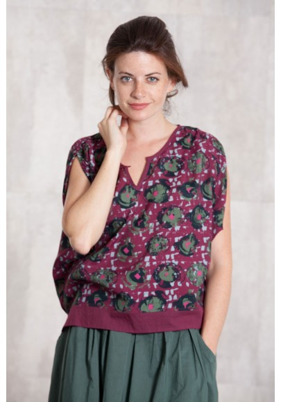 Blouse viscose  imprimée digitale -633-11