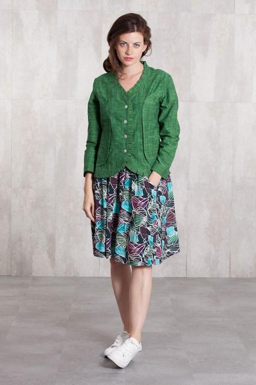 Skirt viscose  digital print-633-32