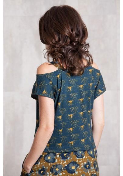 Dress coton jersey-viscose digital print-634-712