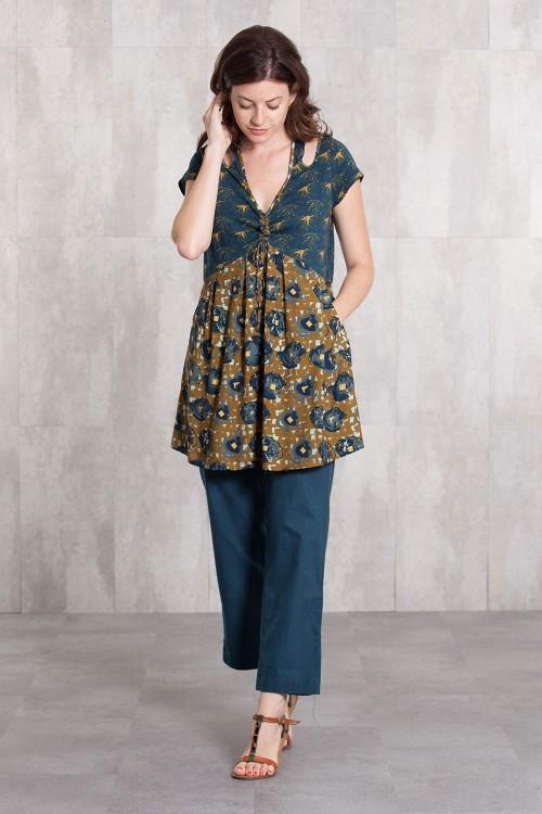 Tunik Dress  coton jersey and viscose  digital print-634-88