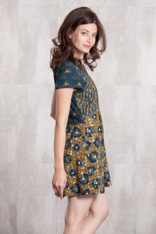 Robe viscose et jersey coton imprimée digitale-634-810