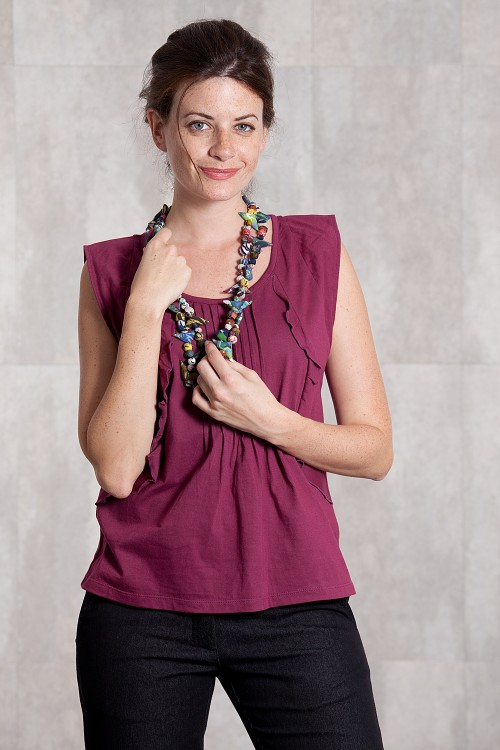 Top Jersey coton 635-23-Framboise