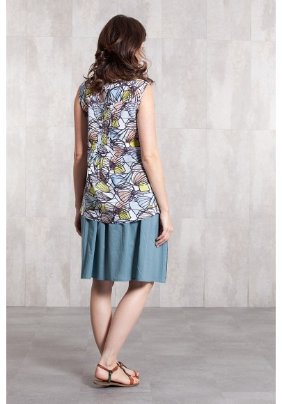 Blouse coton voil digital print -630-14