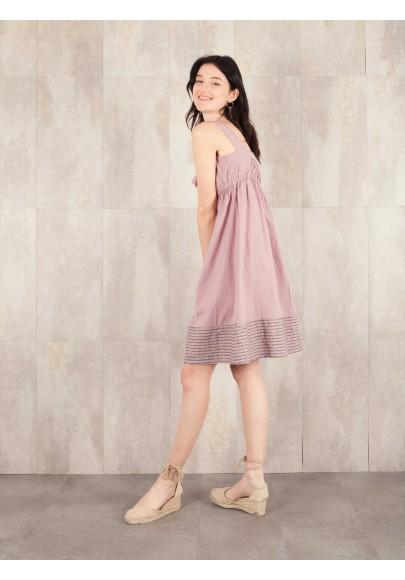 Robe Aude coton rayée 8410