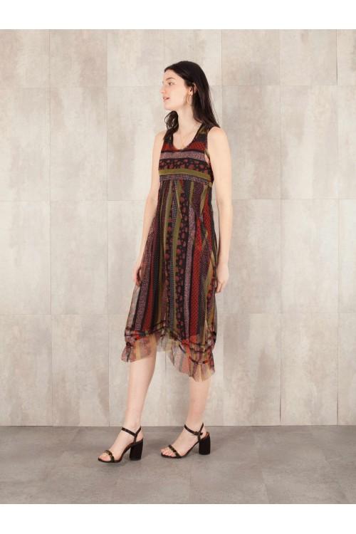 Dress  net print lined coton voil Hortense-11