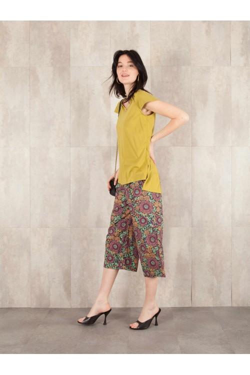 Pantalon court Elisa coton imprimée