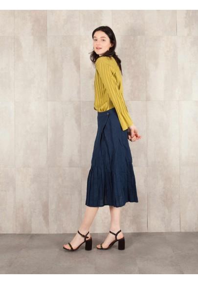 Skirt  Edmée crack look linen  580-31