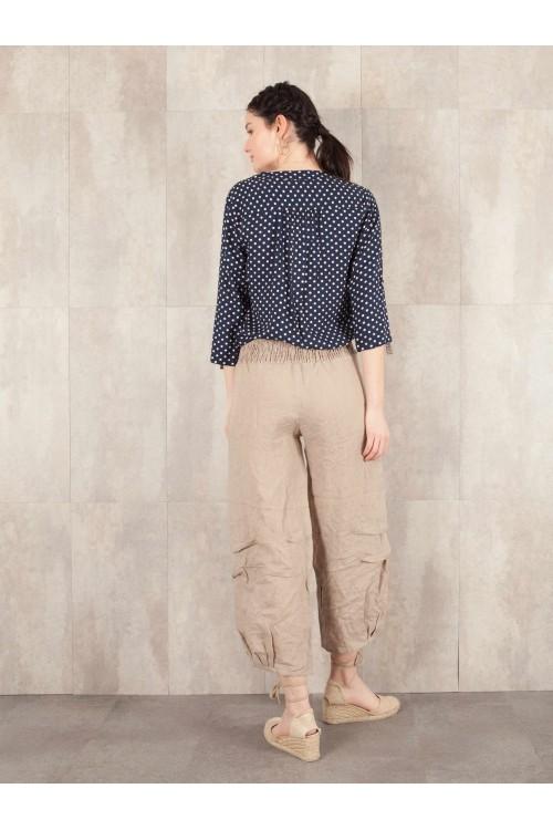 Pant Charline crack look linen 580-40
