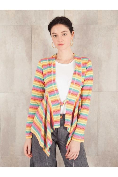 Gilet Maude Rayé coton jersey 520-61