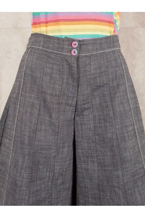 Large Pant Micha crushed look jean coton 520-41