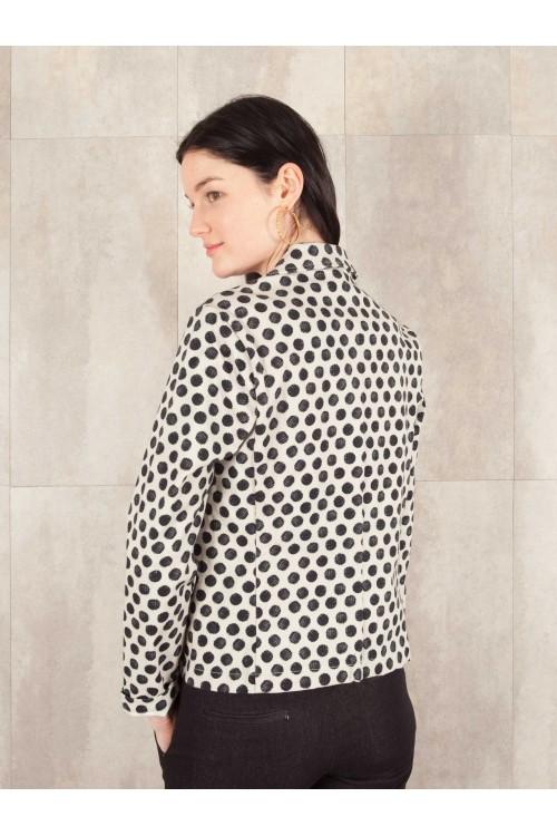Jacket digital print  coton stretch E16-61-CSL