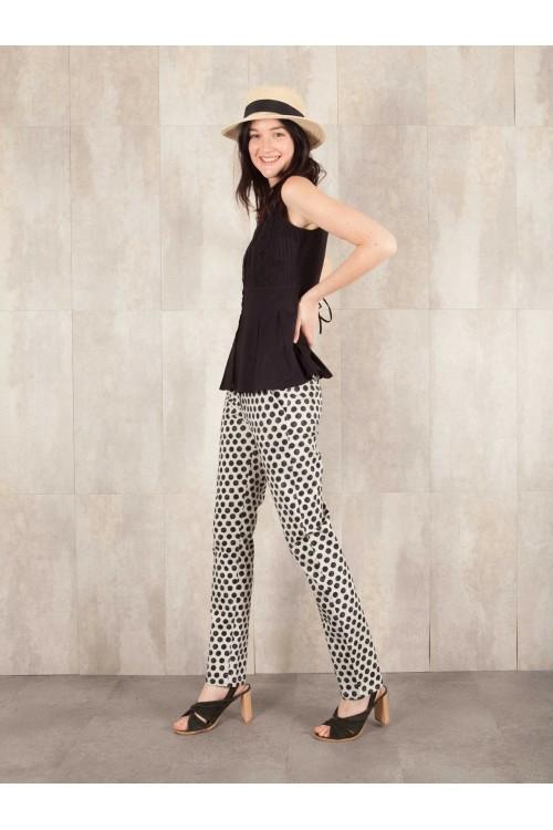 Pantalon imprimée digitale coton stretch E16-41-CSL