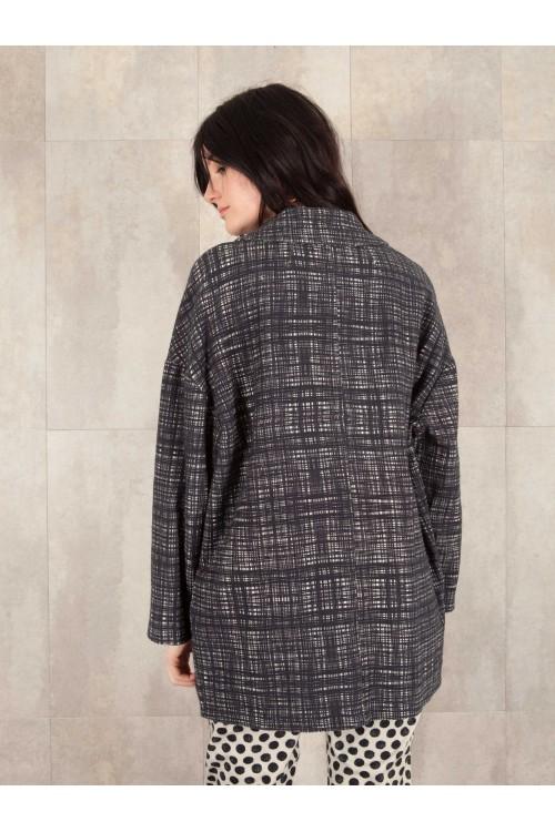 Jacket digital print coton linen effect E16-60-CL