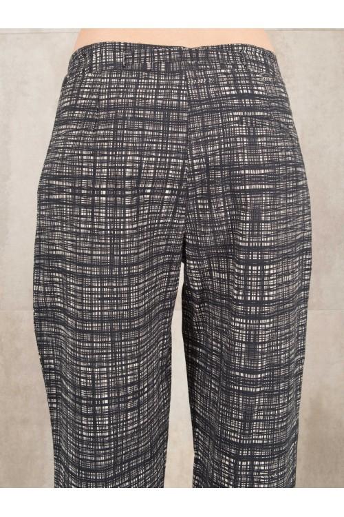 Pant digital print  coton linen effect  E16-40-CC
