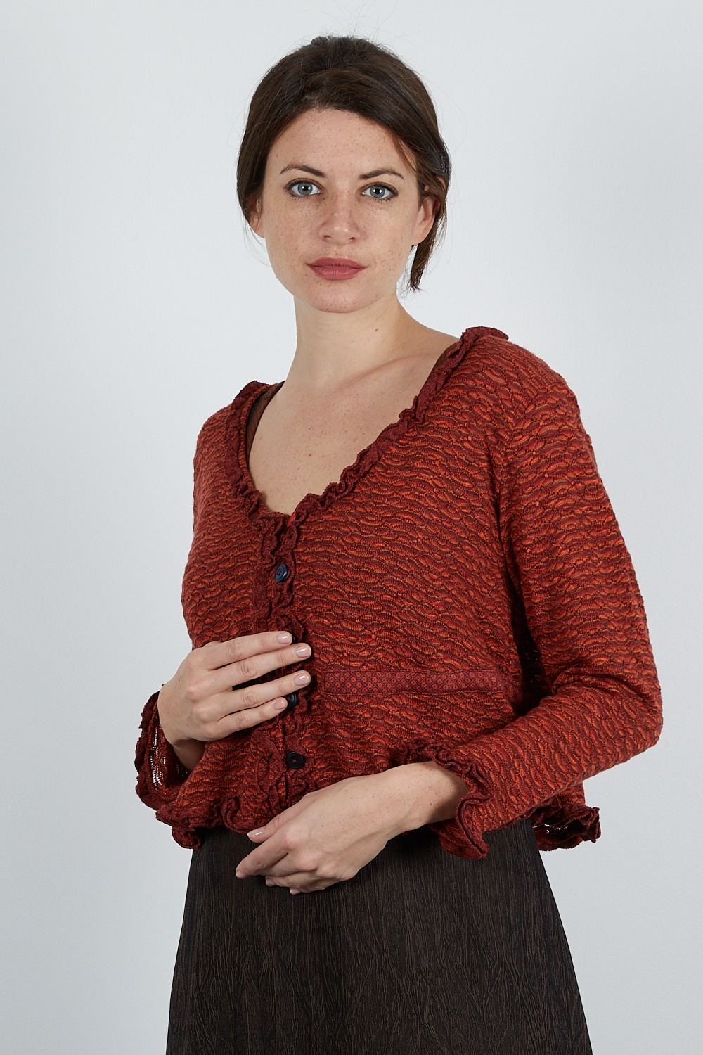 MUSE-65 Gilet maille jacquard