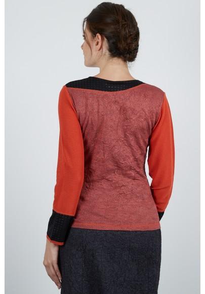 517-10 Pull T shirt jersey jacquard